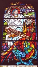 vitrail Saint Armel et la guivre