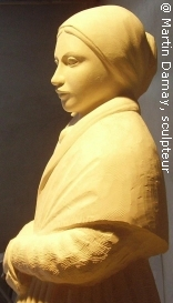 Sainte Bernadette Soubirous, sculpture de Martin Damay, reproduction interdite