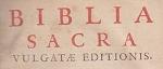 Biblia Sacra - Vulgate