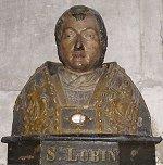Buste de Saint Lubin dans l'église N-D de Louviers