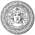 sceau de Stockholm, avec le portrait d'Éric IX