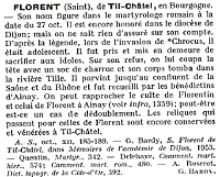 article sur Saint Florent de Til-Chatel, Catholicisme, tome 4, 1956