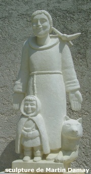 Saint François d'Assise, sculpture de Martin Damay, reproduction interdite