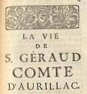 La vie de S. Géraud, comte d'Aurillac