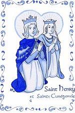 Saint Henri et sainte Cunégonde, illustration d'Anne Floc'h