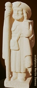 Saint Jacques, sculpture de Martin Damay, reproduction interdite