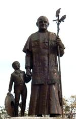 statue de Jean-Paul II à Guadalajara, Mexique