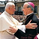 Jean Paul II et Mgr del Portillo