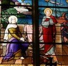 Saint Augustin et sainte Monique au port, vitrail de l'église Saint-Vaast