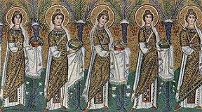 Les martyrs de l'Eglise primitive - À lire ! Merci mon Dieu de pouvoir encore professer notre foi ♥ - Page 2 Mosaiqueviergesmartyresravenne