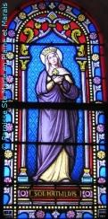 Vitrail 'Sainte Mathilde' à la Chapelle Saint Martin du cimetière de Benet 85490