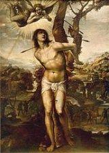 Saint Sébastien et les flèches, peinture de Il Sodoma, vers 1525